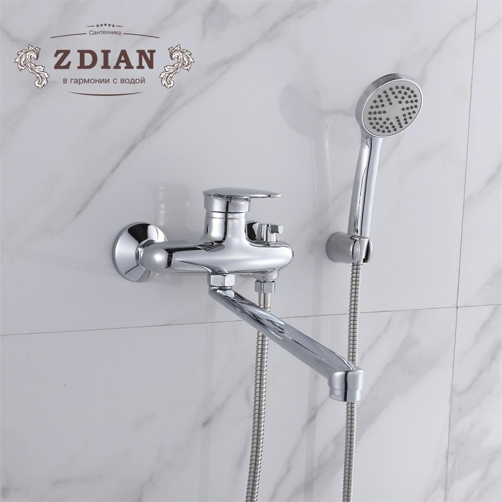 Bathtub Faucets Chrome Single Handle Hot And Cold Water Tap With