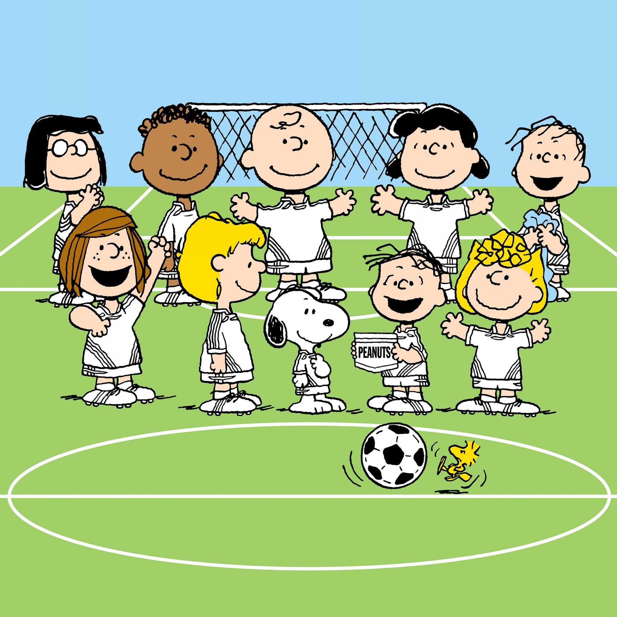 Peanuts Soccer Team Snoopy Cartoon Charlie Brown Charlie Brown Peanuts