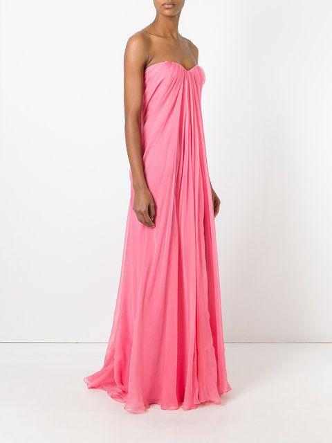 Alexander McQueen draped bustier evening dress | cloth | Pinterest ...