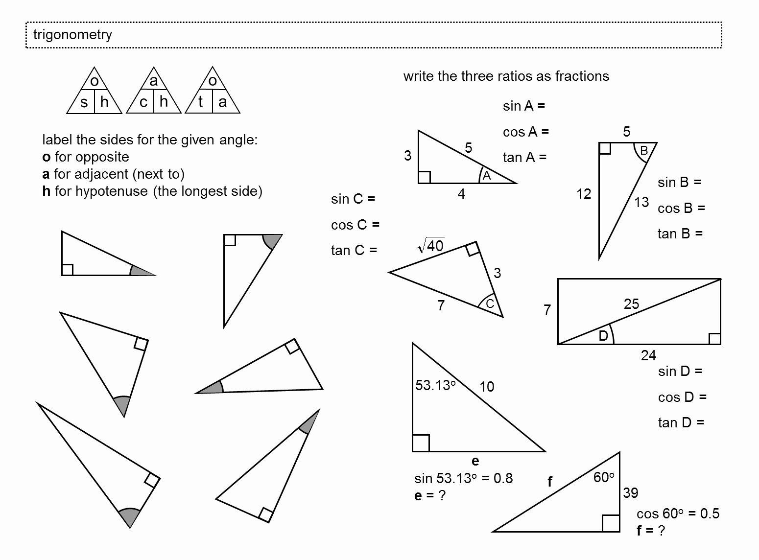 Right Triangle Trigonometry Worksheet Beautiful Median Don Steward Mathematics Teaching Trigonometry In 2020 Geometry Worksheets Trigonometry Worksheets Trigonometry