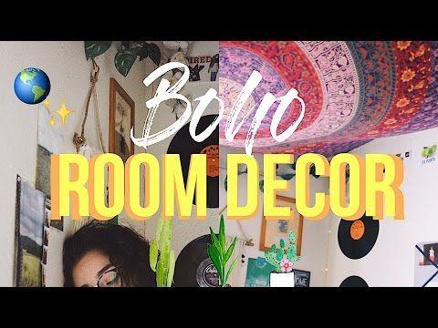DIY Boho room decor/tour! - YouTube