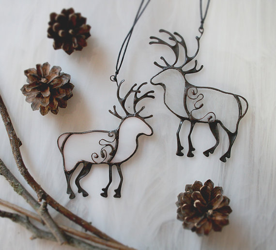 Hey, I found this really awesome Etsy listing at https://www.etsy.com/ru/listing/205652647/christmas-deer-decoration-clear-winter