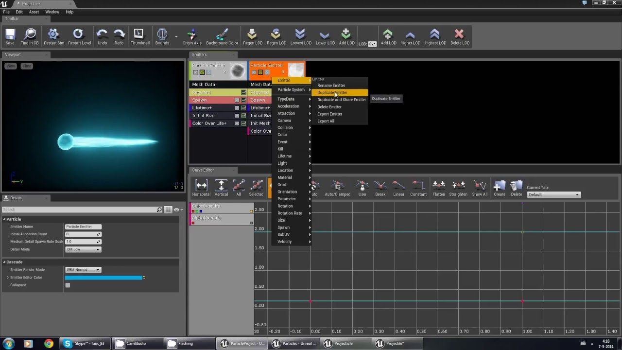How To Mesh Based Particle For Ue4 Part 4 The Particle