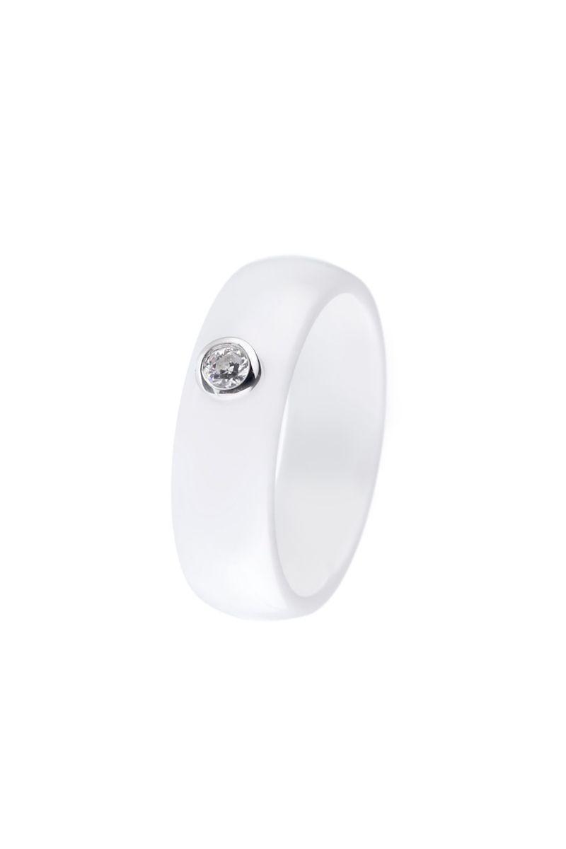 Venda Cerabella / 9148 / Anéis / Anel Solitário Branco de Prata e Cerâmica. 25€