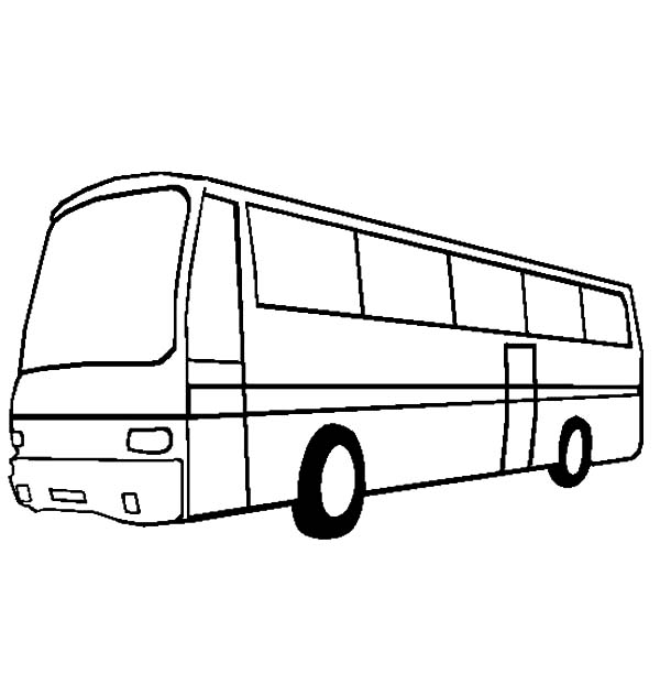 City Bus Turn Left Side Coloring Pages Netart Bus Coloring Pages Color