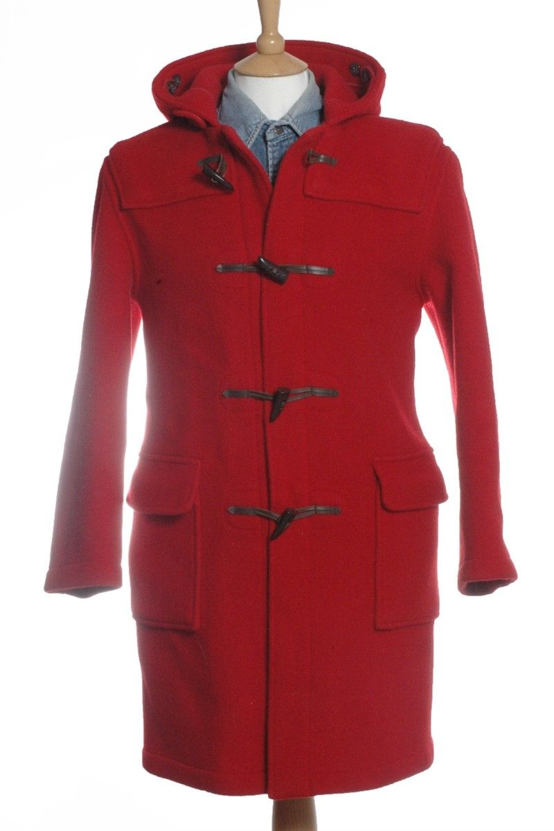 Vintage Gloverall Red Duffle Coat S