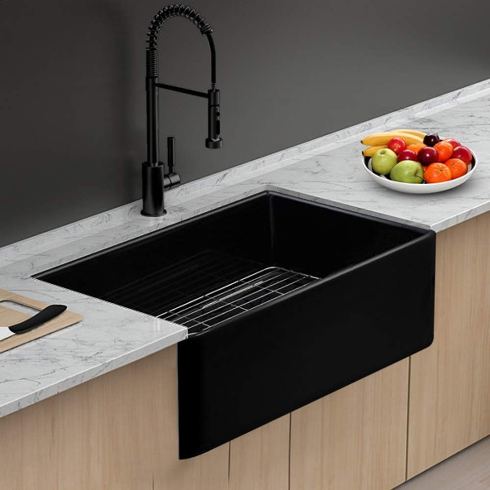 Best Black Farmhouse Sinks We Love Black Apron Front Sinks And All Sorts Of Farmhouse Sinks In 2020 Single Bowl Kitchen Sink Black Farmhouse Sink Modern Kitchen Sinks