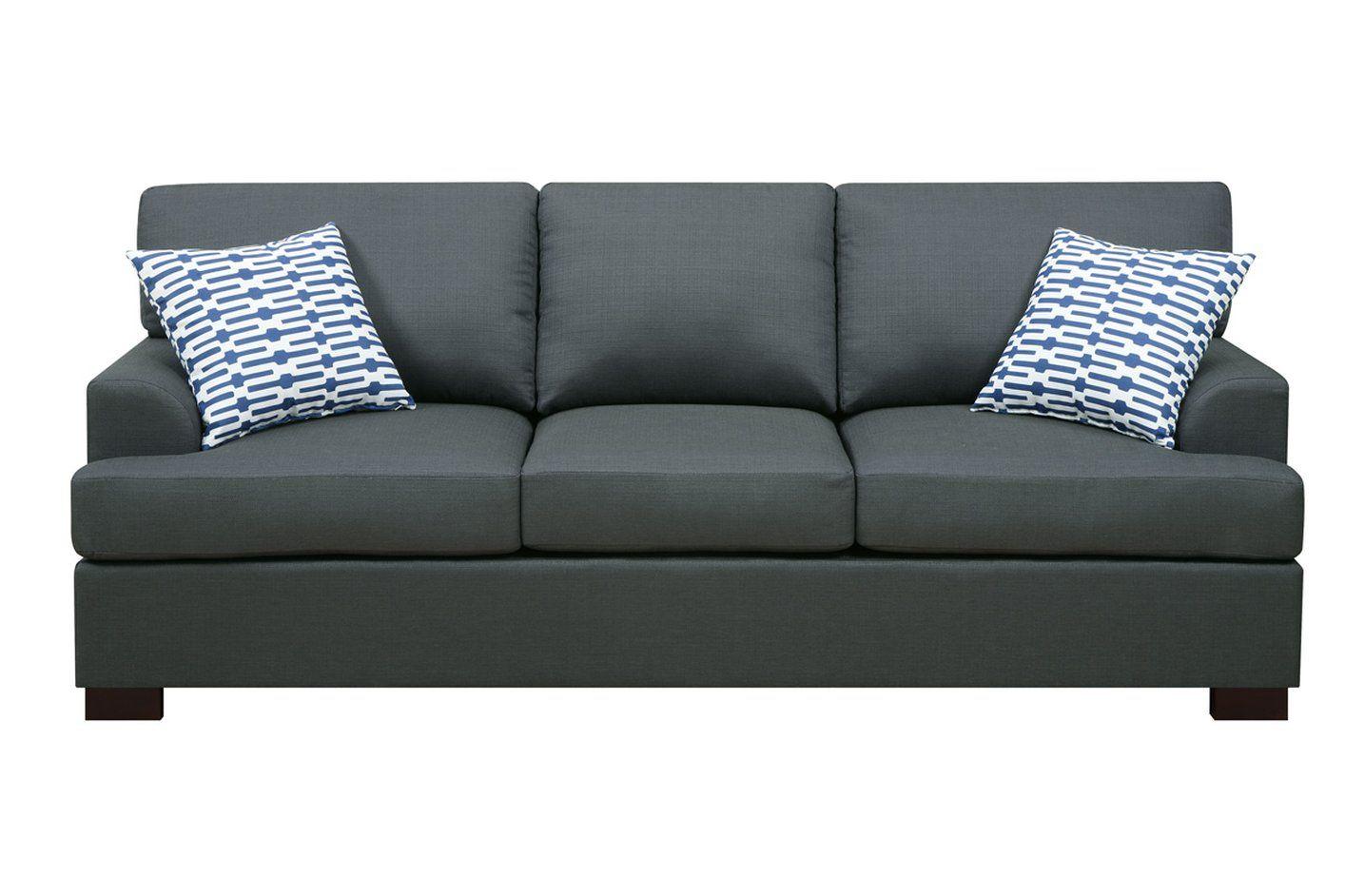 Awesome Black Cloth Sofa Fancy