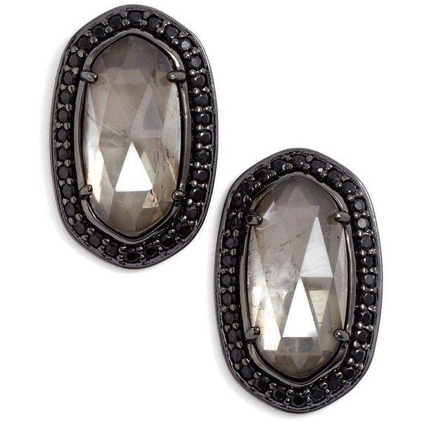 Kendra Scott 'Elaine' Stud Earrings ($70) ❤ liked on Polyvore featuring jewelry, earrings, polish jewelry, kendra scott, 14k earrings, sparkle jewelry and 14k jewelry