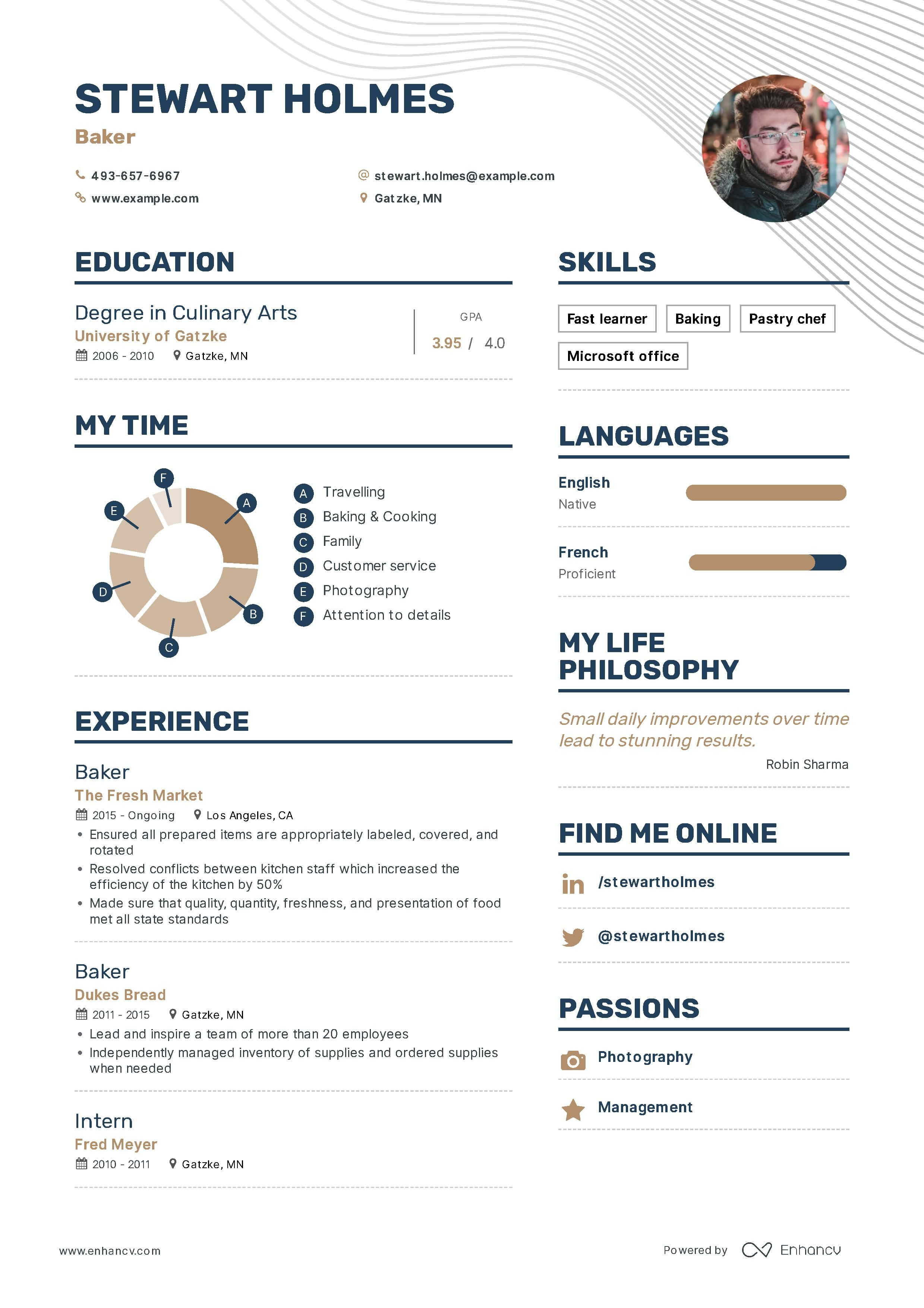 Baker resume example and guide for 2019 resume examples
