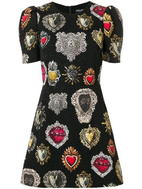 Dolce & Gabbana жаккардовое платье с узором гербов ...
