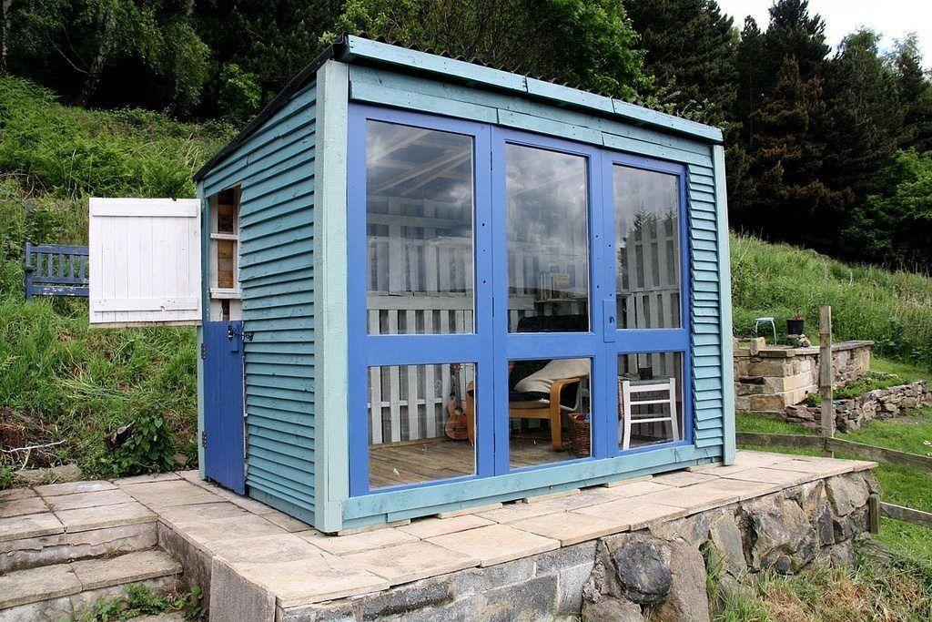 Caseta hecha con palet azotea terraza patio balc n for Casetas para terrazas
