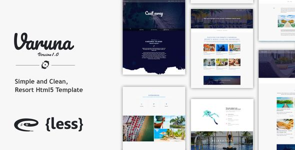 Varuna scu resort hotel html5 template template clean design varuna resort hotel html5 template is a base html template designed specially for rersort maxwellsz