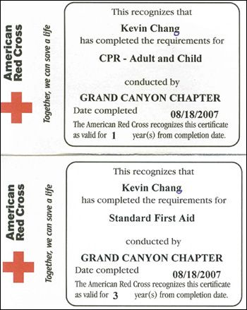 Simple first aid cpr certification first aid pinterest first aid certificate template first aid training certificate free printable allfreeprintablecom this certificate with a red cross seal certifies the yadclub Images