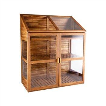 Armoire-serre, en bois et verre L. 120 x 61 x H. 144 cm ...