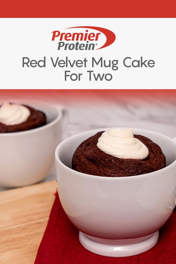 Premier Protein Red Velvet Mug Cake for Two