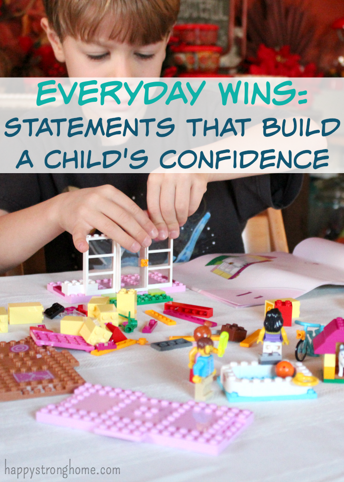 Everyday Wins: Statements that build a child's confidence! Parenting resource to help you find the right words to support independent, confident kids! @LEGO #CreateBuildLEGOJUNIORS #Sponsored