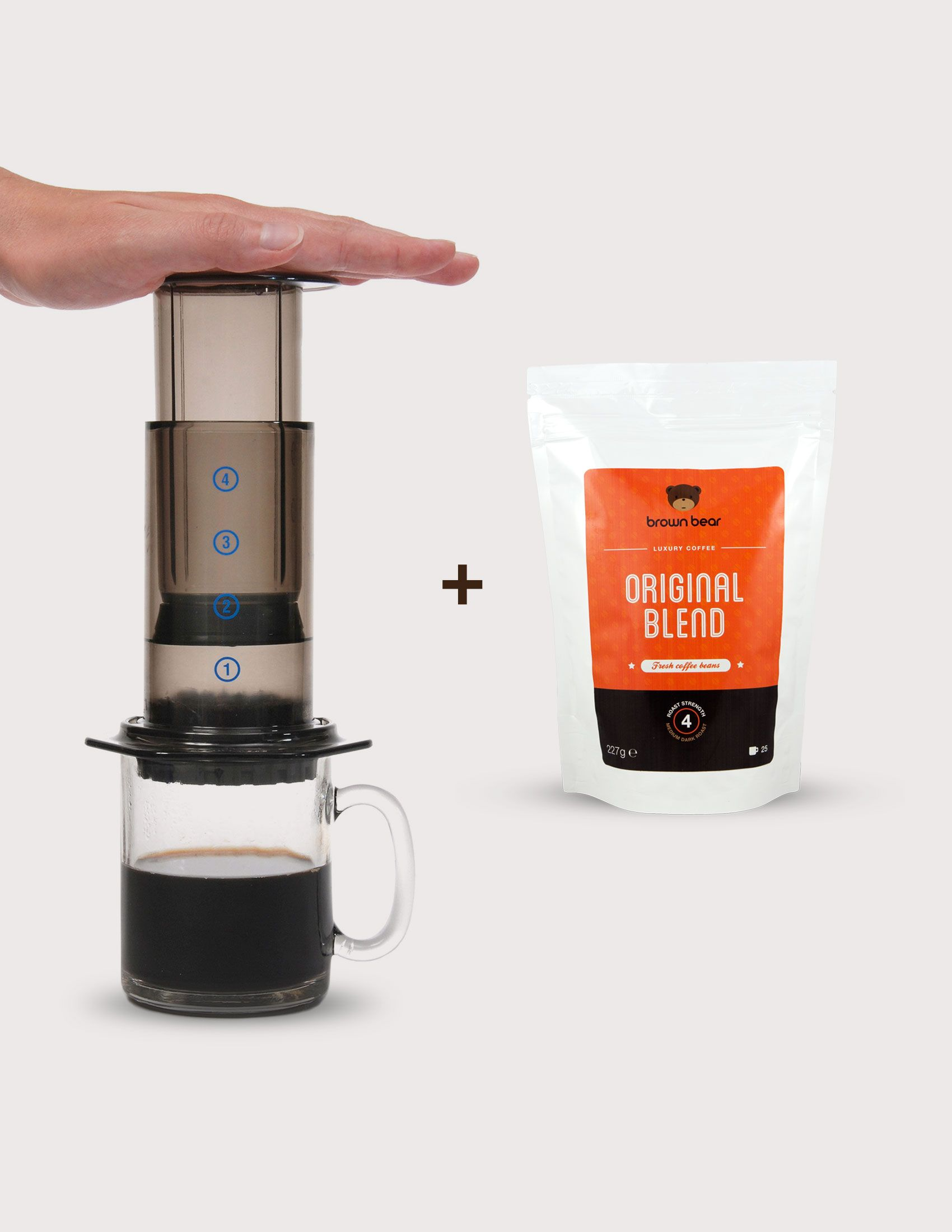 Easy Way to make testy Coffee with BrownBear. Just take