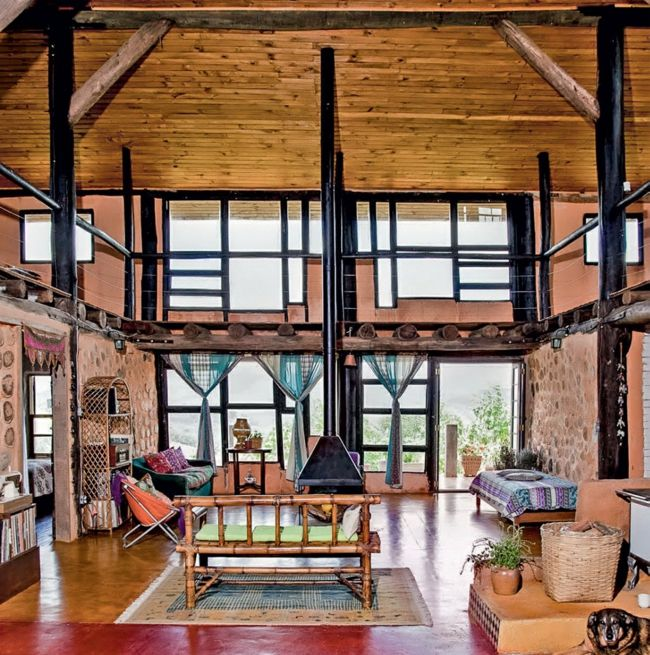 Nachhaltige Architektur Wohnideen Wohnzimmer Landhausstil