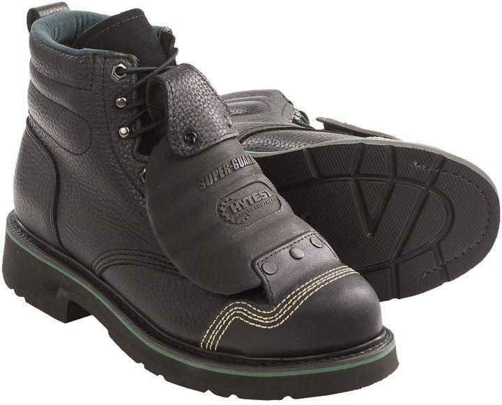 "adac276eb83 Wolverine FootRests Metatarsal Guard EH Work Boots - 6"", Steel Toe ..."