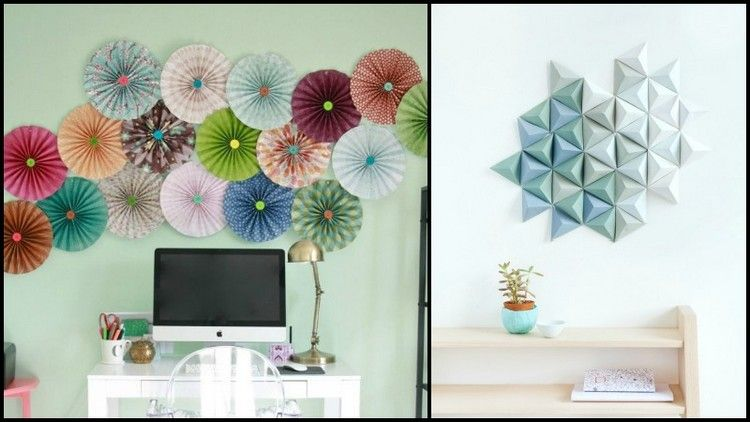 Diy upcycled paper wall decor ideas paper walls wall for Wall decoration ideas with photos