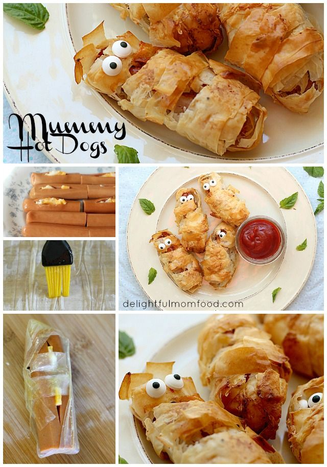 Crispy Phyllo Wrapped Hot Dog Mummies Recipe Food