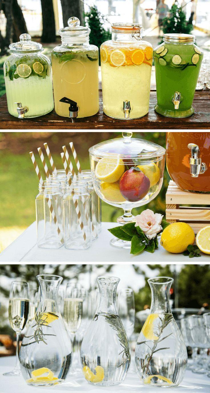 Hochzeit in Gelb: 40 stilvolle und kreative Deko-Ideen - Hochzeitskiste | #saftbar #hochzeit #hochzeitsideen #sommerhochzeit