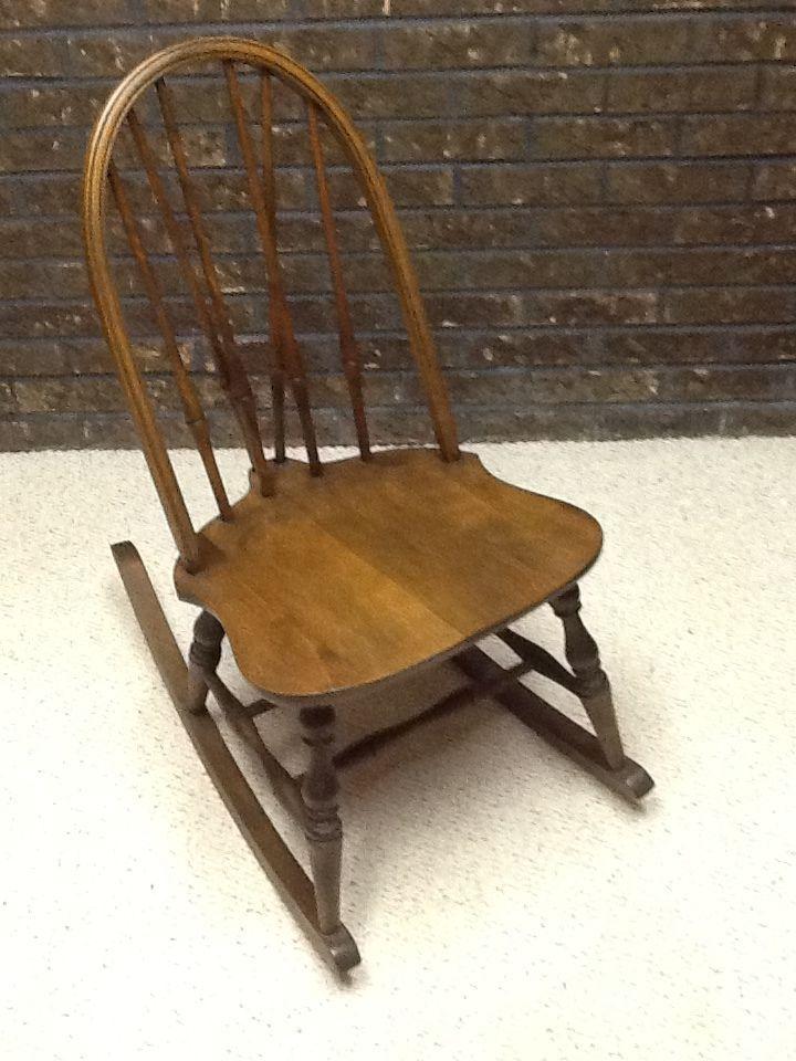 Antique Spindle Rocking Chair Back Store Brace Sewing Nursing Rocker Missionartscrafts Rockers Sofa Braces Sofas