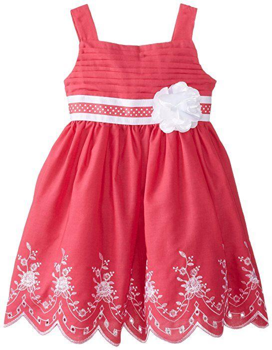 fd1d844d4060 Sweet Heart Rose Little Girls  Embroidered Sundress