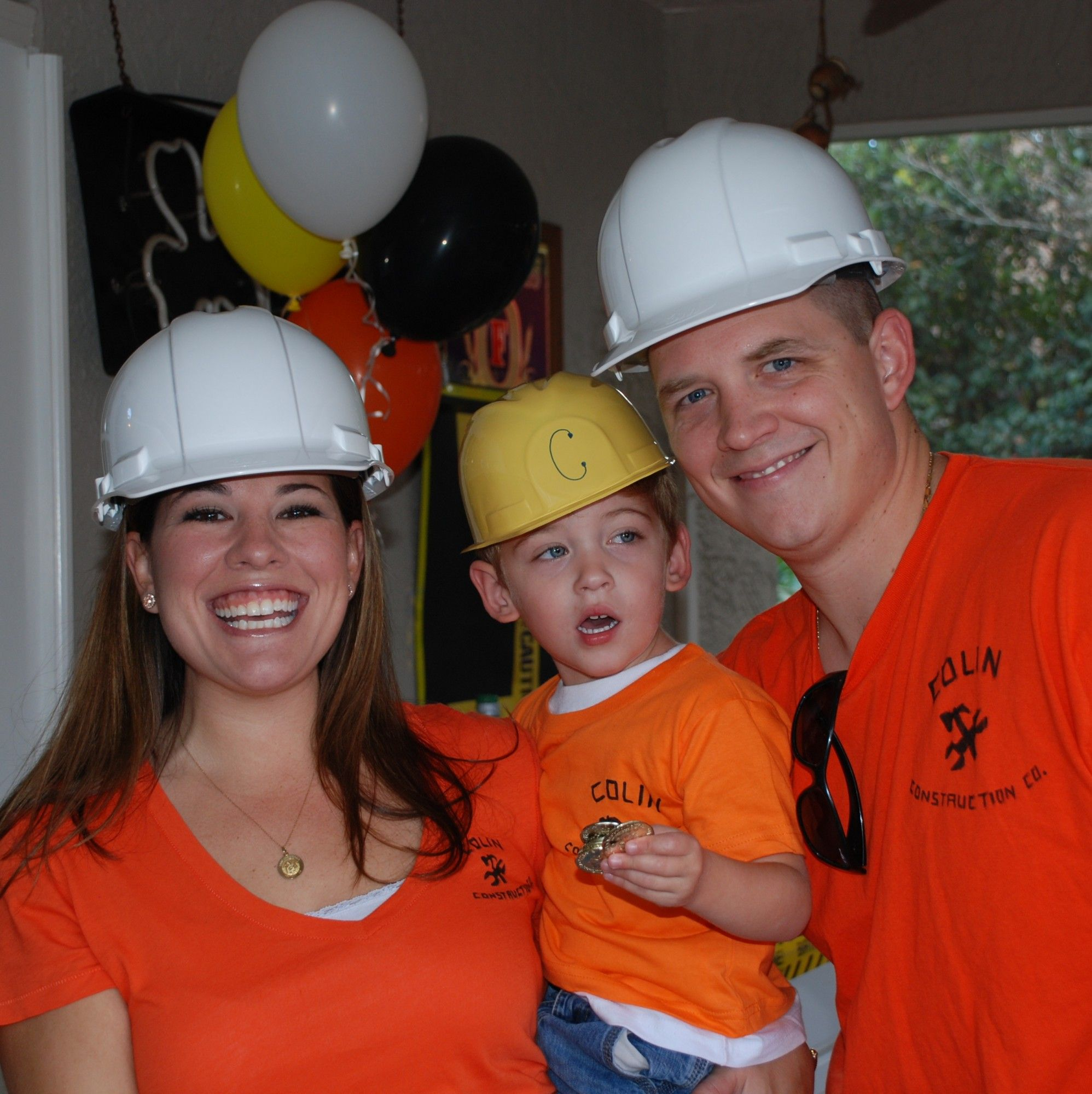 construction birthday shirts