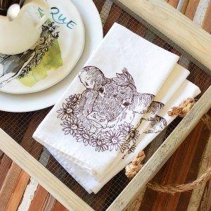Cow Cloth Napkin - Choose to Reuse - Zero Waste - Say No To Single Use