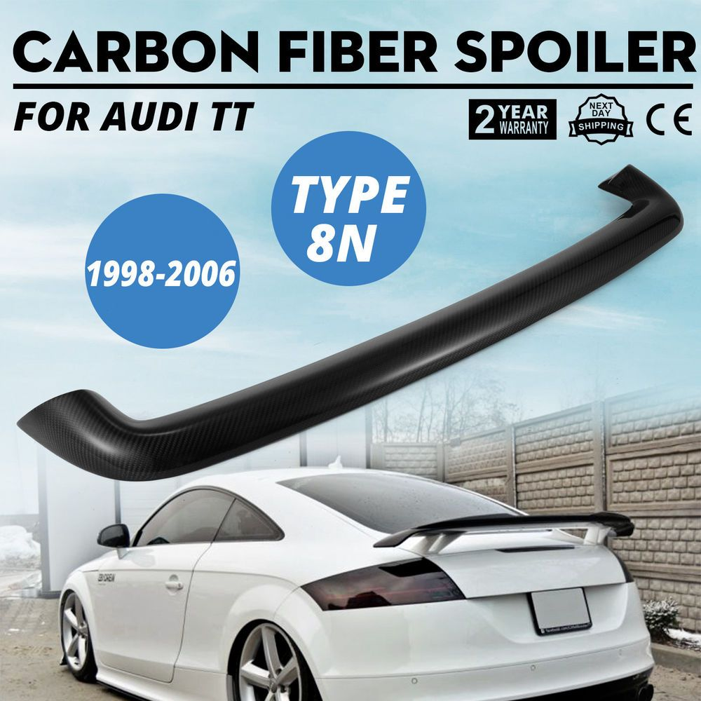 Carbon Fiber Spolier For Audi Tt 8n Roof High Gloss Trunk Wise Choice Promotion Carbon Fiber Spoiler Audi Carbon Fiber