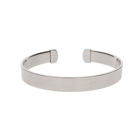 Engravable Plain Style Stainless Steel Cuff Bracelet