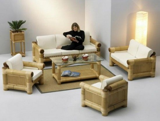 bamboo living room furniture. Unique Bamboo Living Room Design for Typical House Tropic  Home
