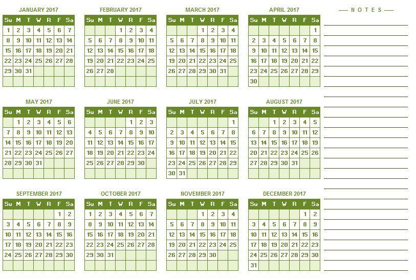 Printable 2017 2018 2019 Calendar Template Calendar Template