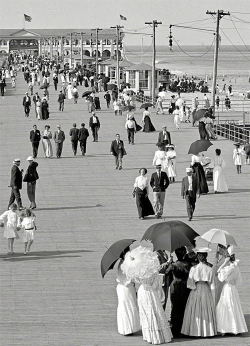 The Jersey Shore, circa 1905.  Terrific image