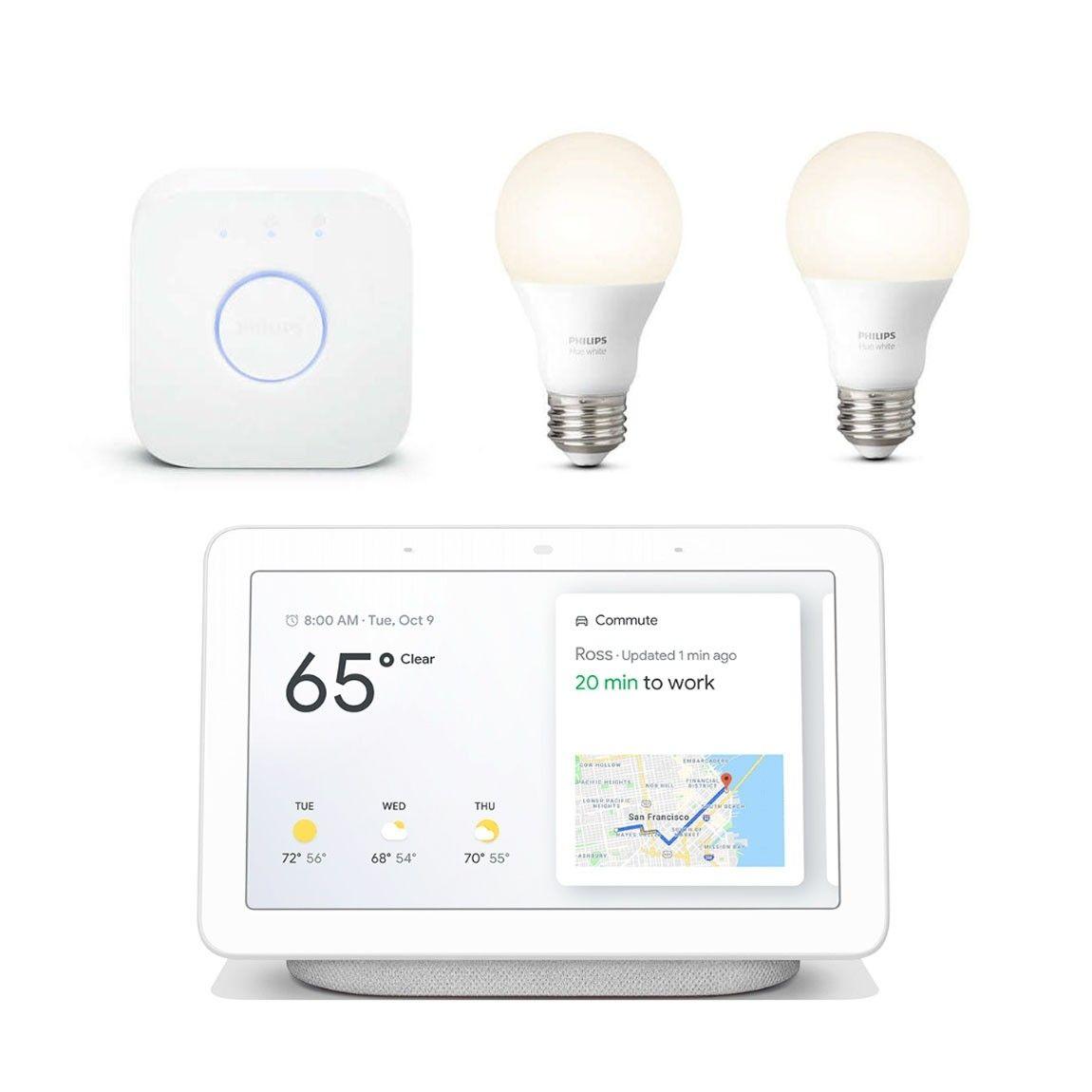 Google Nest Hub + Philips Hue White - Starter Kit (2 Pack
