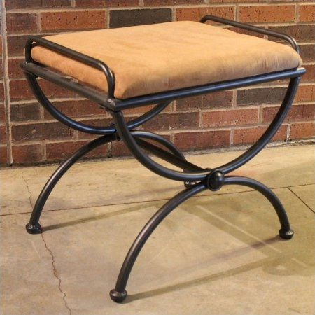 International Caravan Cambridge Vanity Stool in Antique Black ...