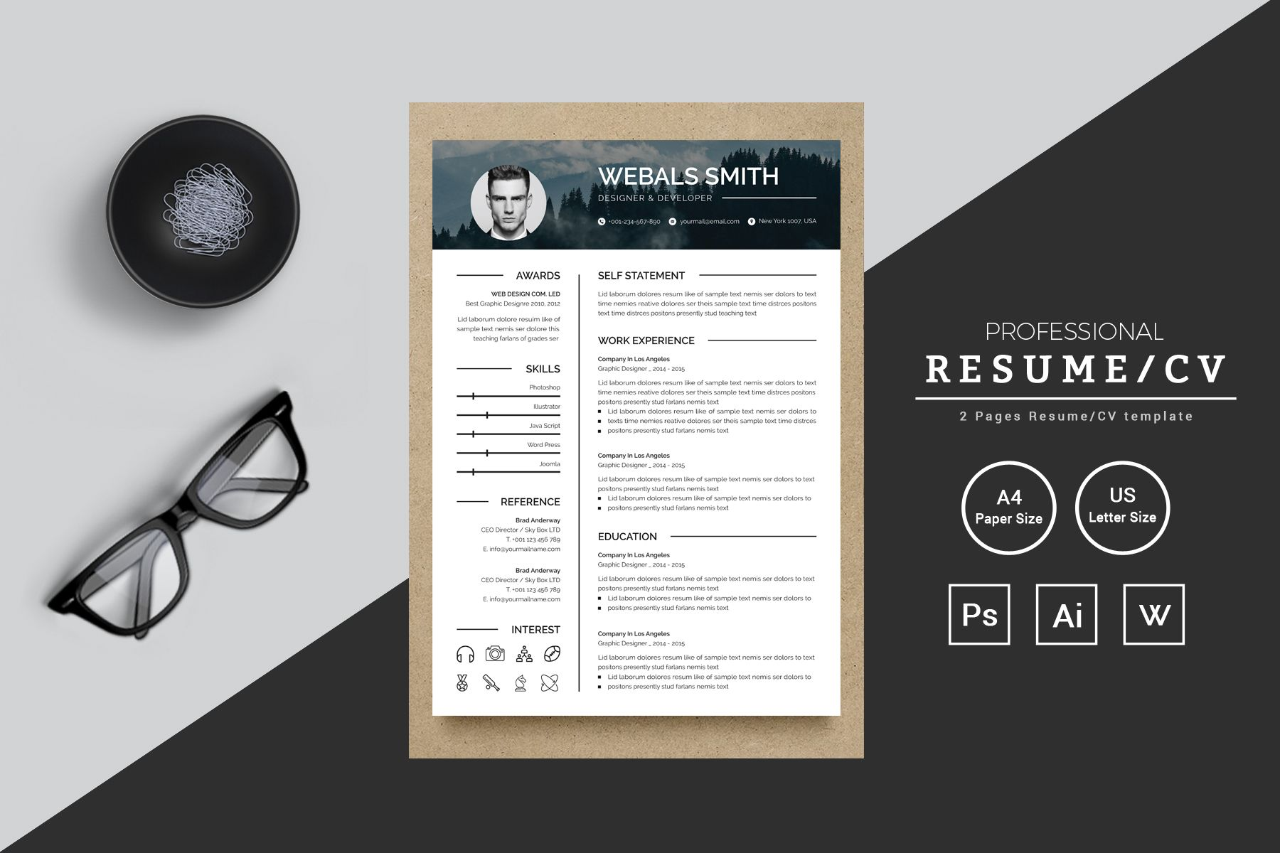 Graphics Resume Template Ad Resume Graphics Resume