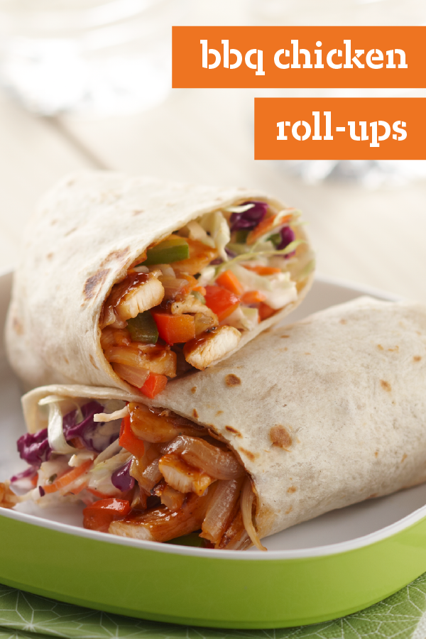 BBQ Chicken Roll-Ups – Crunchy coleslaw and saucy BBQ sauce add oomph to these flavorful chicken roll-ups. In just 25 minutes, you can have a satisfying dish on the table that your whole family will e