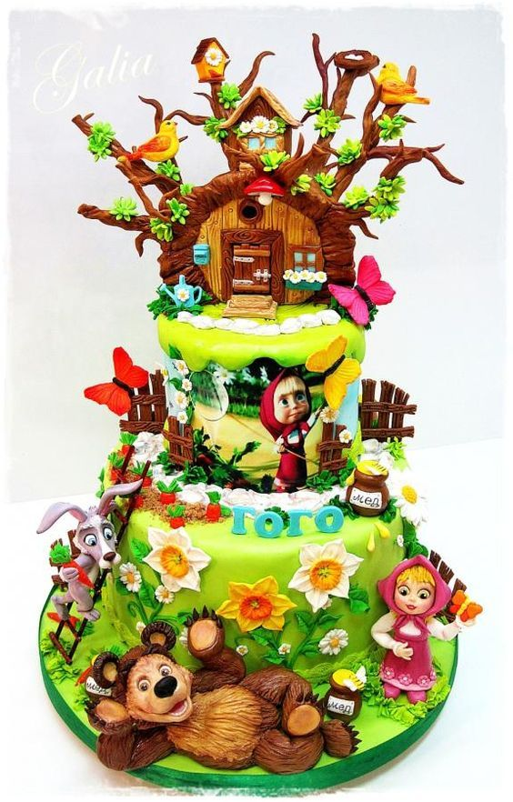 Masha and the Bear Masha and the Bear Pinterest Bears Cake
