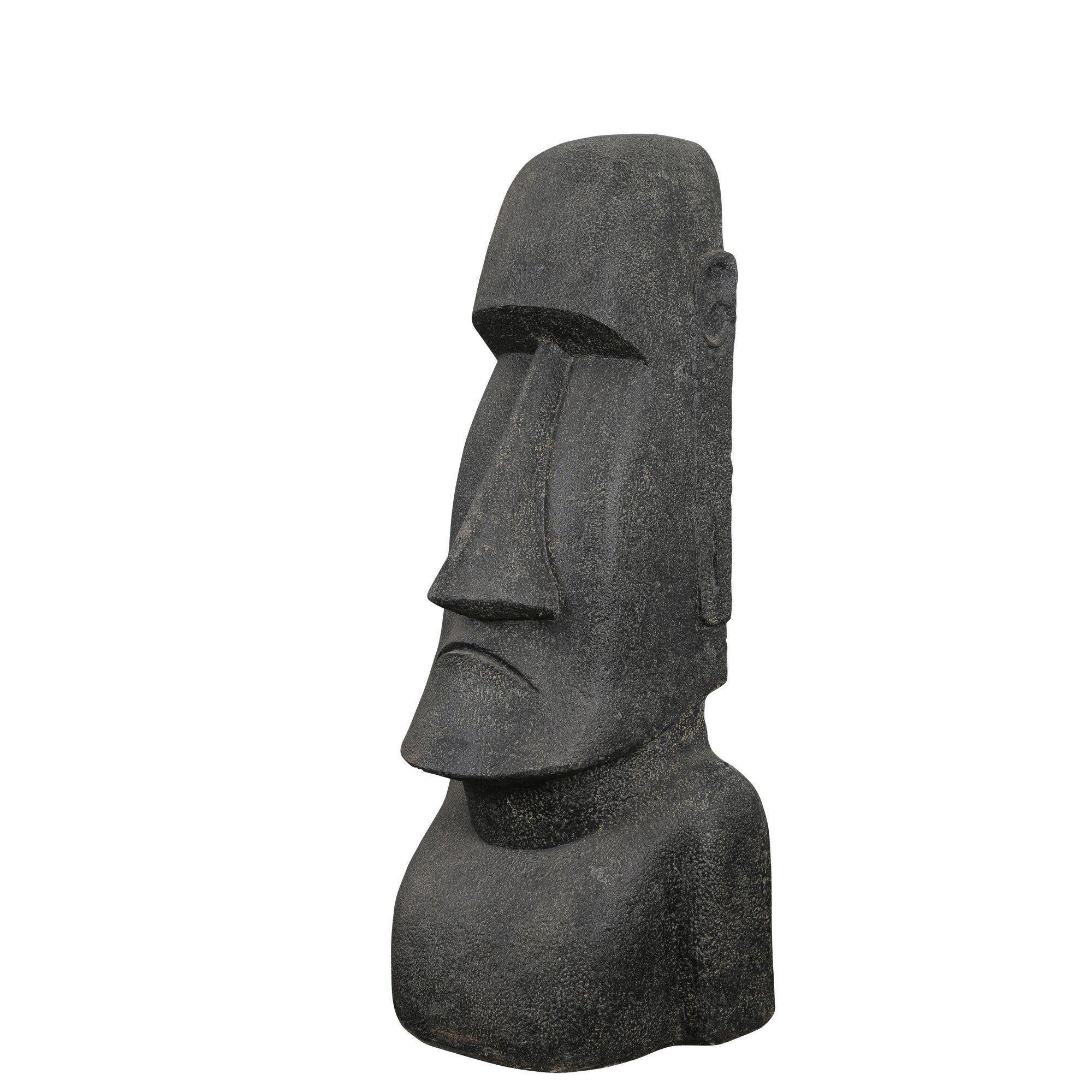 Decoration De Jardin Statue Moai Light En Pierre Reconstituee 150