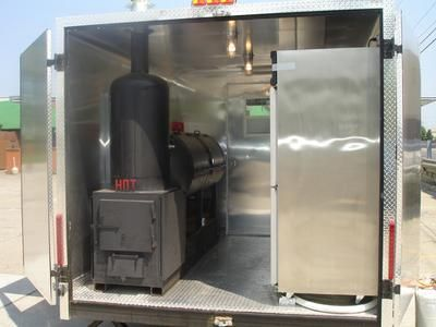 Interior: Southeast Michigan   Concession Bbq Trailer Complete With State  Licensed Stainless And Aluminum Kitchen.