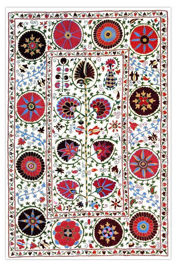 Suzani designs  https://www.etsy.com/listing/177627029/handmade-modern-suzani-l1276