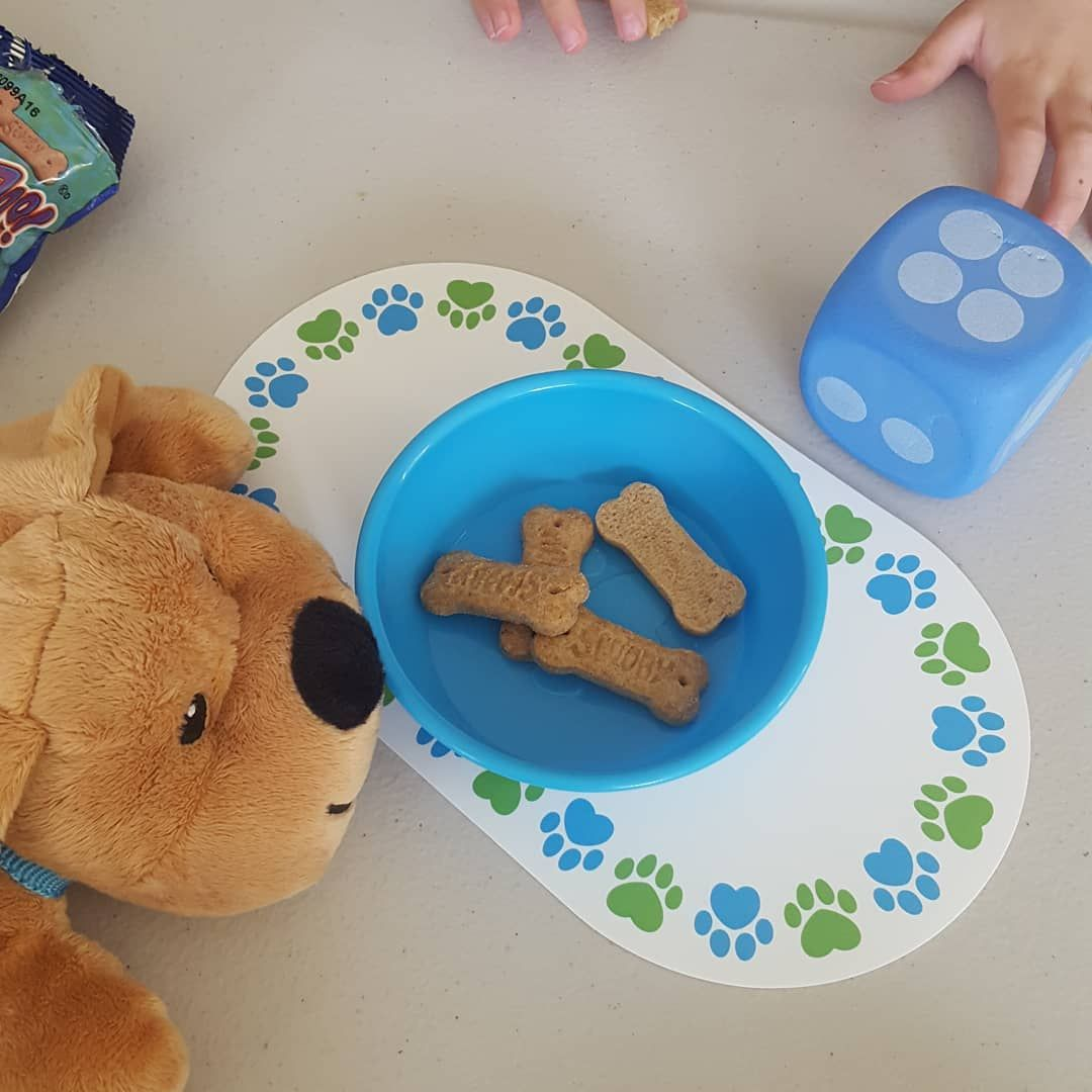 Practicing Math Amp Feeding Our Puppy Some Dog Biscuits
