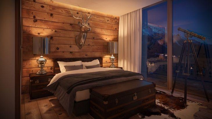 Hotelzimmer Alpine Chic Luxusschlafzimmer Schlafzimmer Design