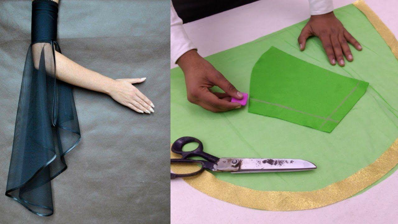 Easy making beautiful umbrella sleeves net fabric design