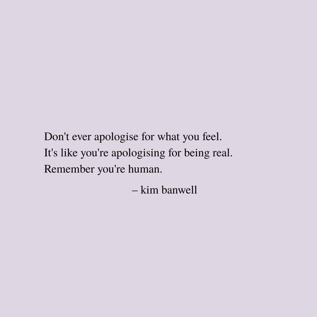 Quote by Kim Banwell @kim.banwell about feeling not ok and how