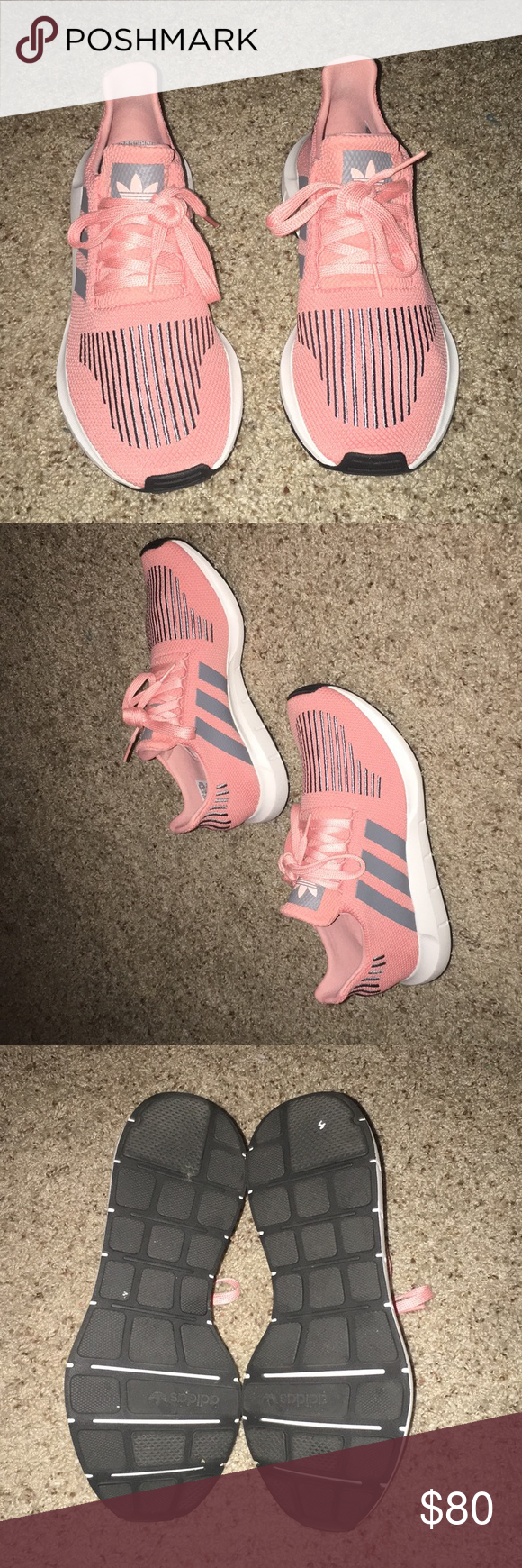 d2a4ee833e6 Adidas Swift Run shoes • women s • size 8 1 2 Adidas Swift Run shoes •  women s • size 8 1 2 • worn once • trace pink and cargo gray adidas Shoes  Athletic ...