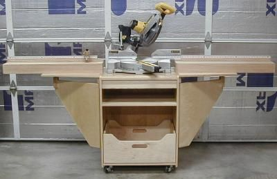 Compound Miter Saw Stand Plans